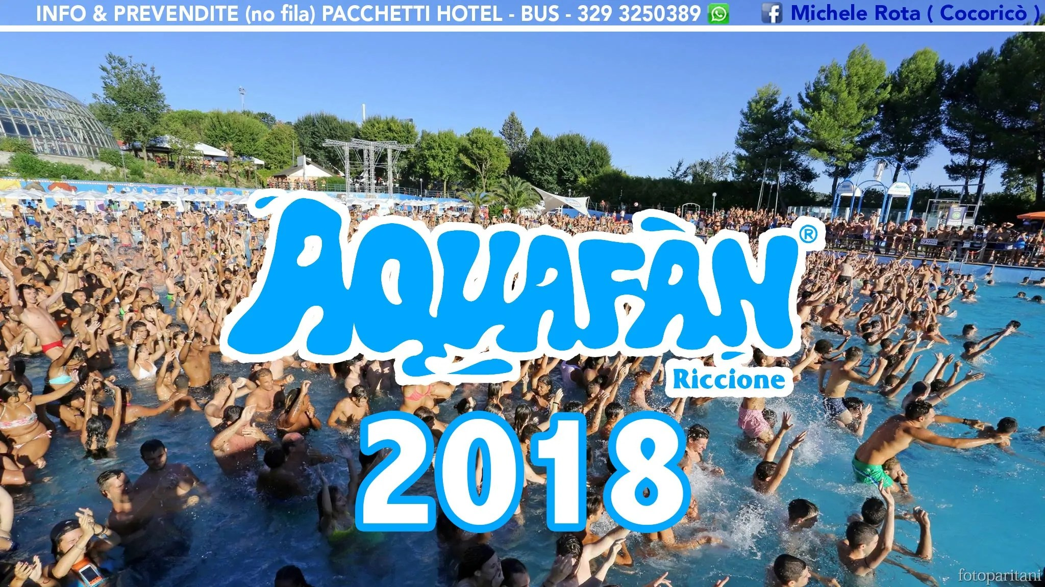 aquafan schiuma party 2018 night & day
