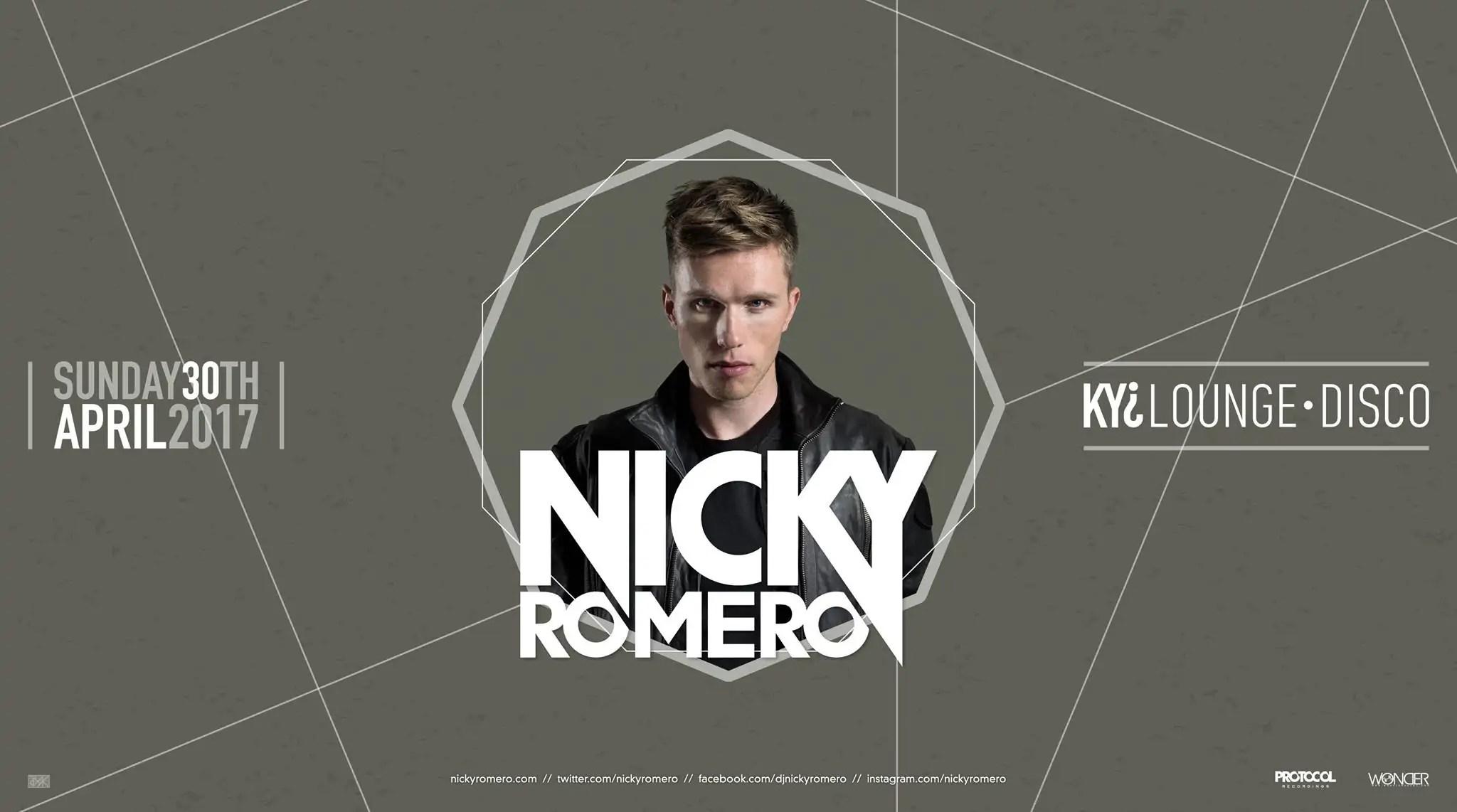 Kiy Louge Disco Nicky Romero 30 Aprile 2017 Ticket Pacchetti