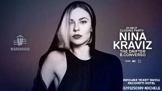 Nina Kraviz Werehouse 01 Giugno 2017 Ticket Tavoli Pacchetti Hotel