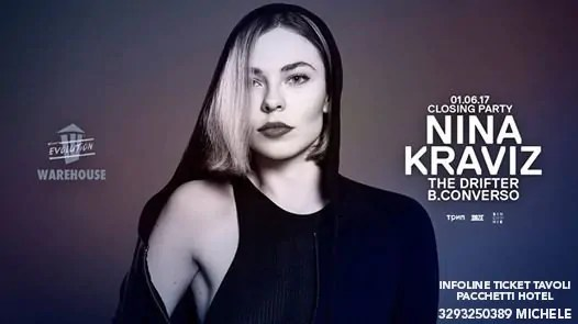Nina Kraviz at Warehouse 01 Giugno 2017 Pescara Prezzi Ticket Biglietti Liste Tavoli Pacchetti Hotel
