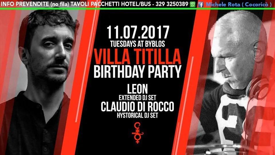 11 07 2017 Ilario Alicante Leon at Villa Titilla Byblos PREZZI PREVENDITE BIGLIETTI TAVOLI PACCHETTI HOTEL BUS
