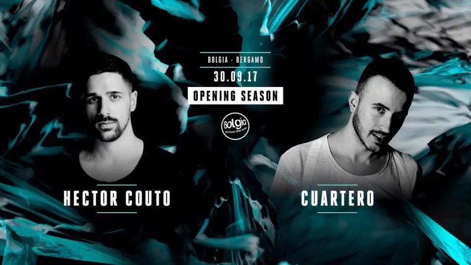 BOLGIA Bergamo 30 09 2017 Cuartero + Hector Couto + Prezzi Ticket Biglietti Liste Tavoli Pacchetti Hotel