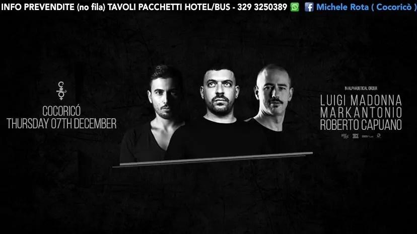07 12 2017 LUIGI MADONNA AT COCORICÒ RICCIONE PREVENDITE + TICKET + TAVOLI + PACCHETTI HOTEL