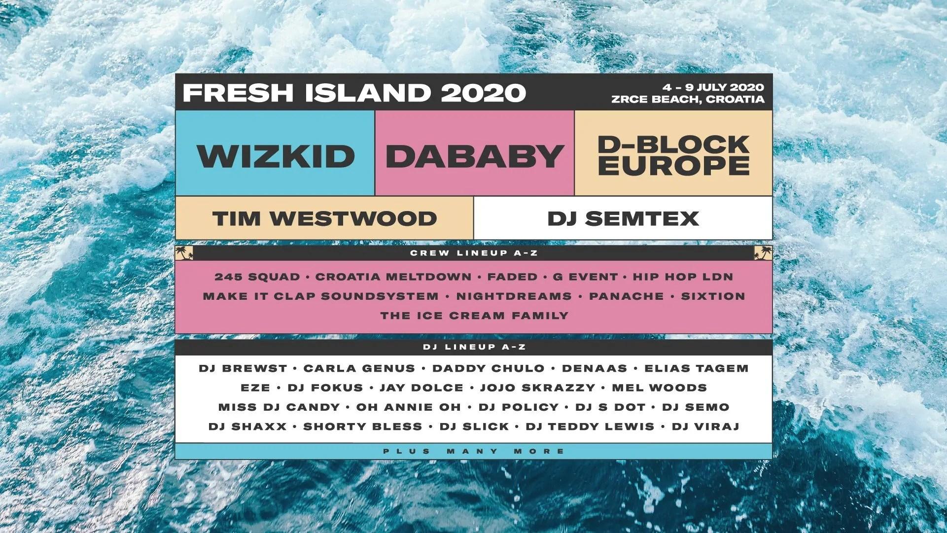 Fresh Island 2020, Zrce Beach Novalja Pag 04 – 11 Luglio Croazia