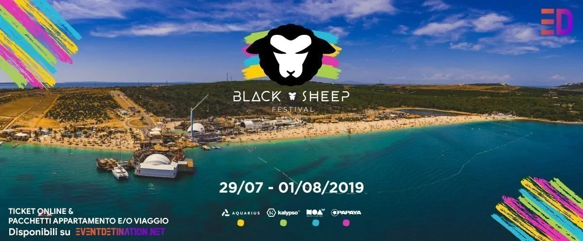 Black Sheep Festival 2019, Zrce Pag Croazia | Ticket – Appartamenti – Viaggio