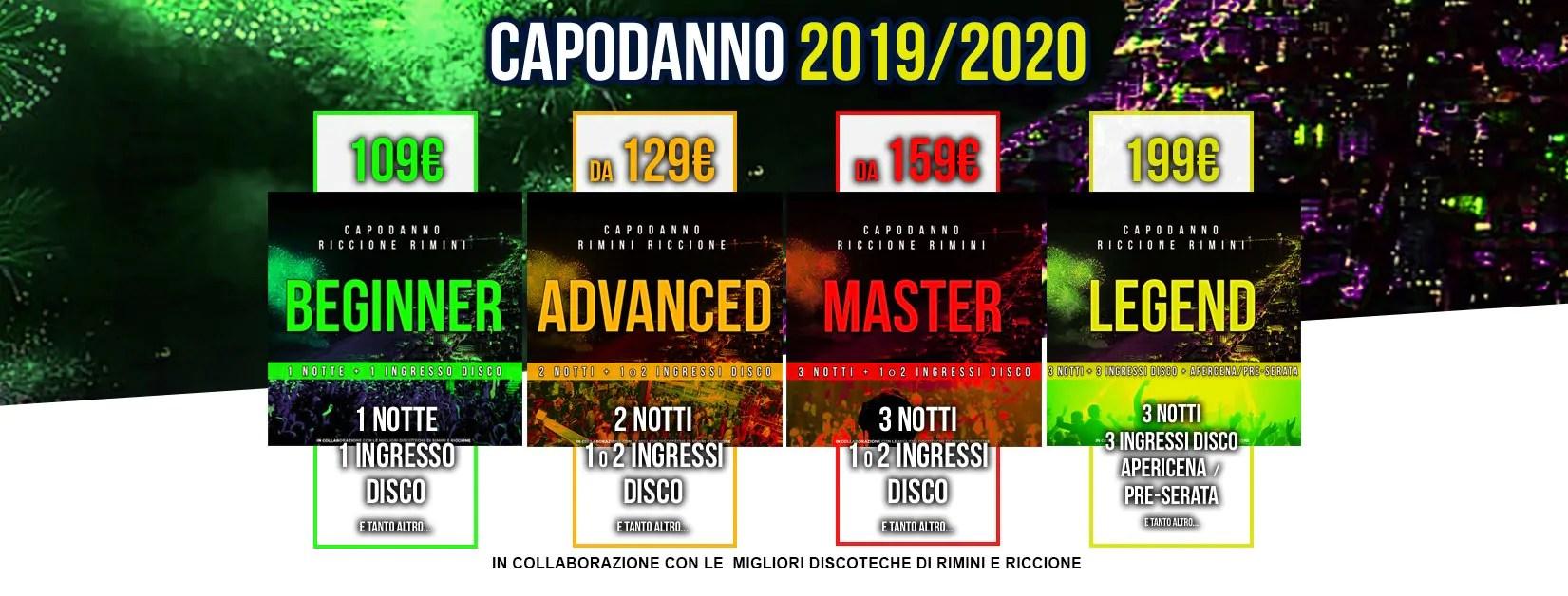 Capodanno 2020 a Riccione e Rimini – Offerte Hotel + Discoteche Eventi Feste Serate Discoteche Cenoni