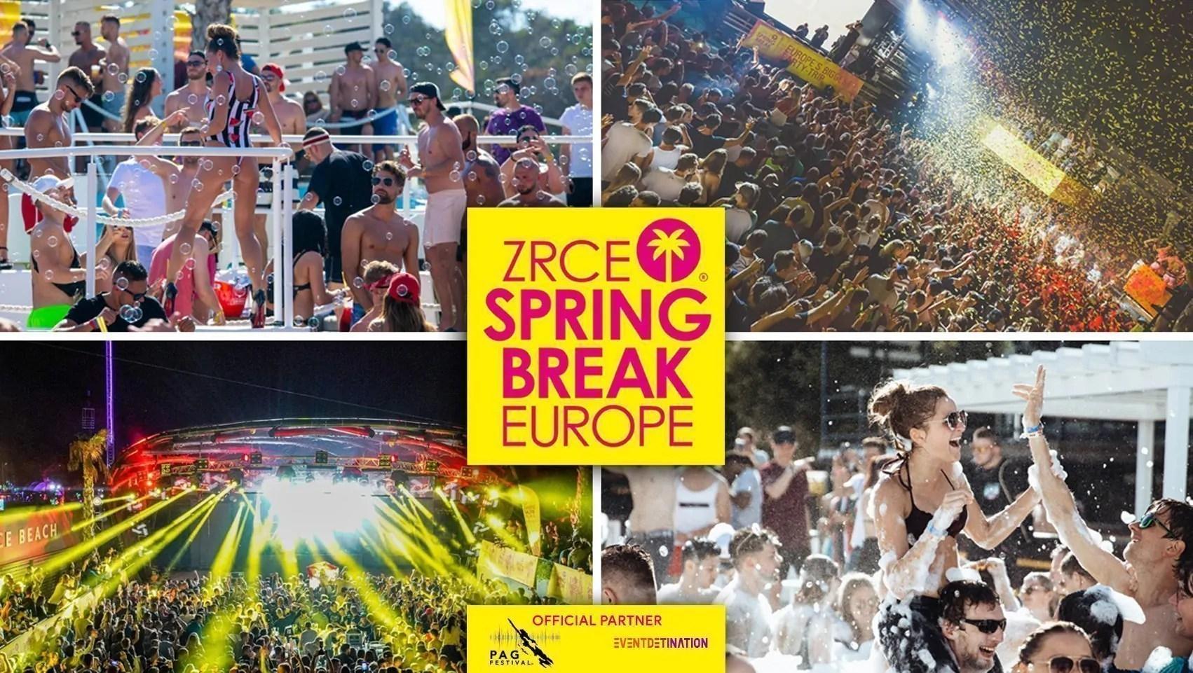 Zrce Spring Break Europe 29 Maggio- 02 Giugno 2020 Ticket + Appartamenti o Hotel