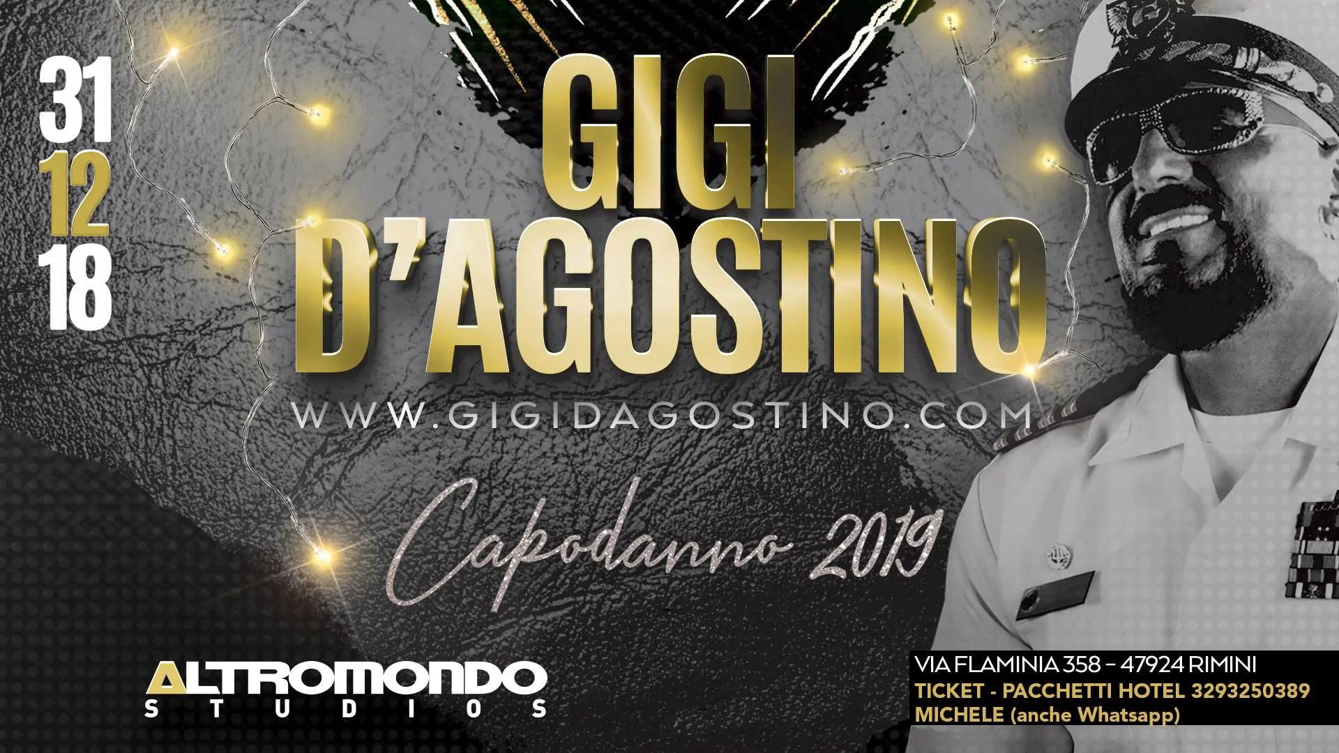 CAPODANNO 2019 ALTROMONDO STUDIOS RIMINI – Gigi D'Agostino – 31 Dicembre 2018 | Ticket Tavoli Pacchetti hotel