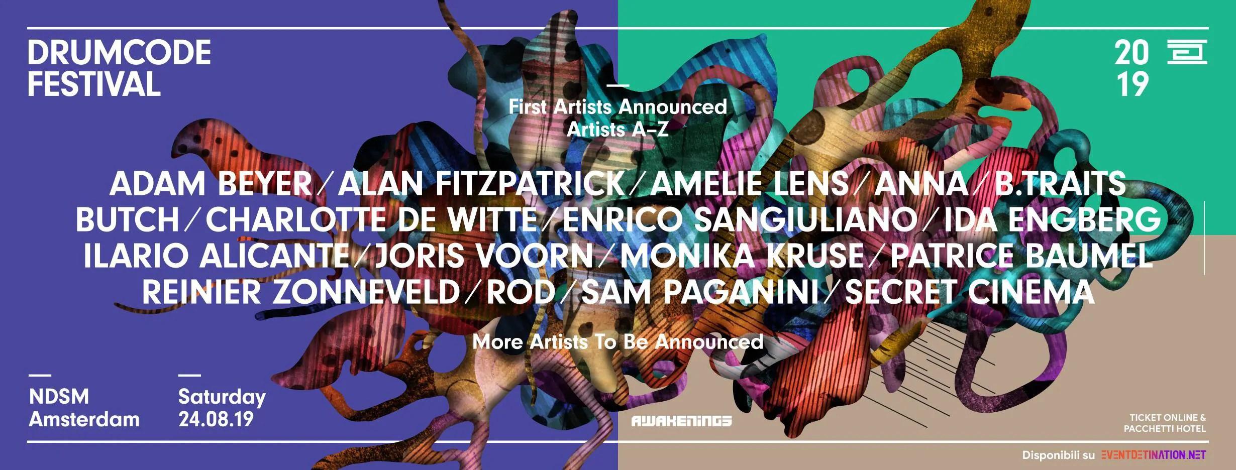DRUMCODE FESTIVAL Amsterdam 2019 – Ticket Pacchetti Hotel