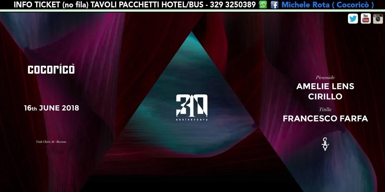 AMELIE LENS al Cocoricò Riccione – Sabato 16 Giugno 2018 | Ticket Online Tavoli Pacchetti hotel Prevendite