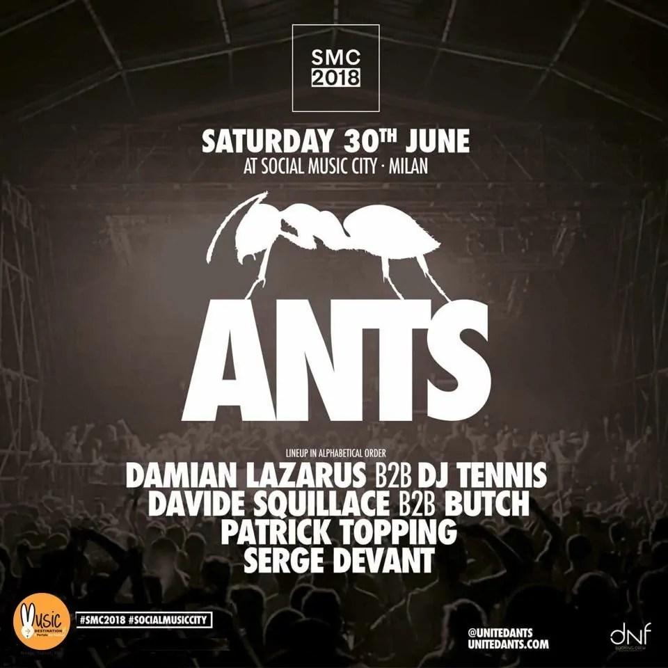 Ants Social Music City 30 Giugno 2018