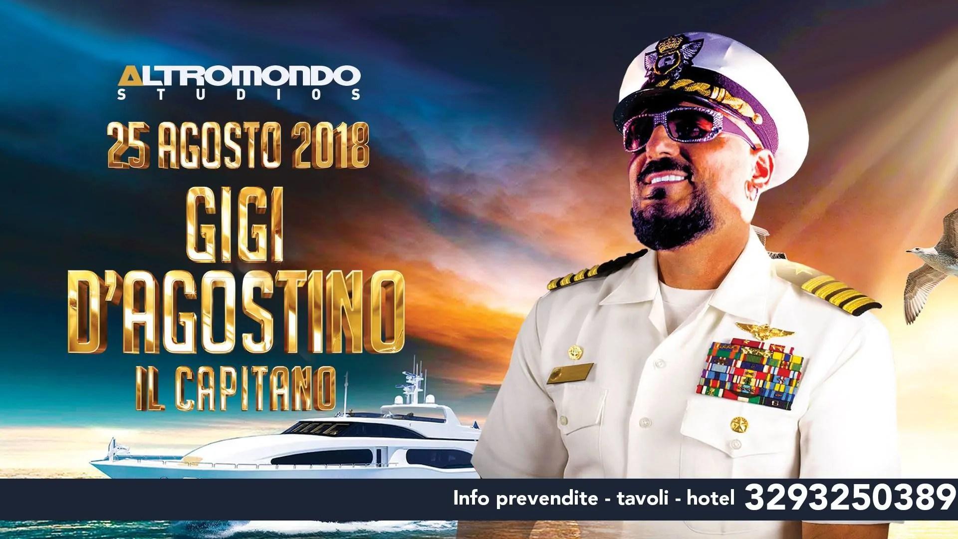 GIGI D'AGOSTINO all' Altromondo Studios Rimini – Sabato 25 AGOSTO 2018 | Ticket Tavoli Pacchetti hotel Prevendite