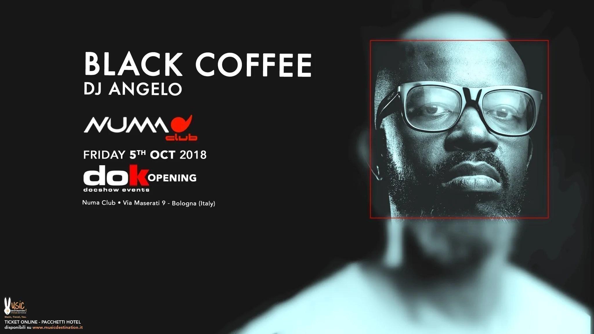 Black Coffee Numa Club Bologna – 05 Ottobre 2018 Dok Show | Ticket Tavoli Pacchetti hotel Prevendite