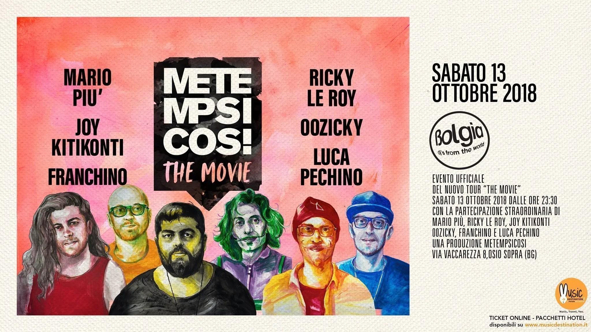 Metempsicosi at Bolgia Bergamo – 13 Ottobre 2018 | Ticket Tavoli Pacchetti hotel Prevendite