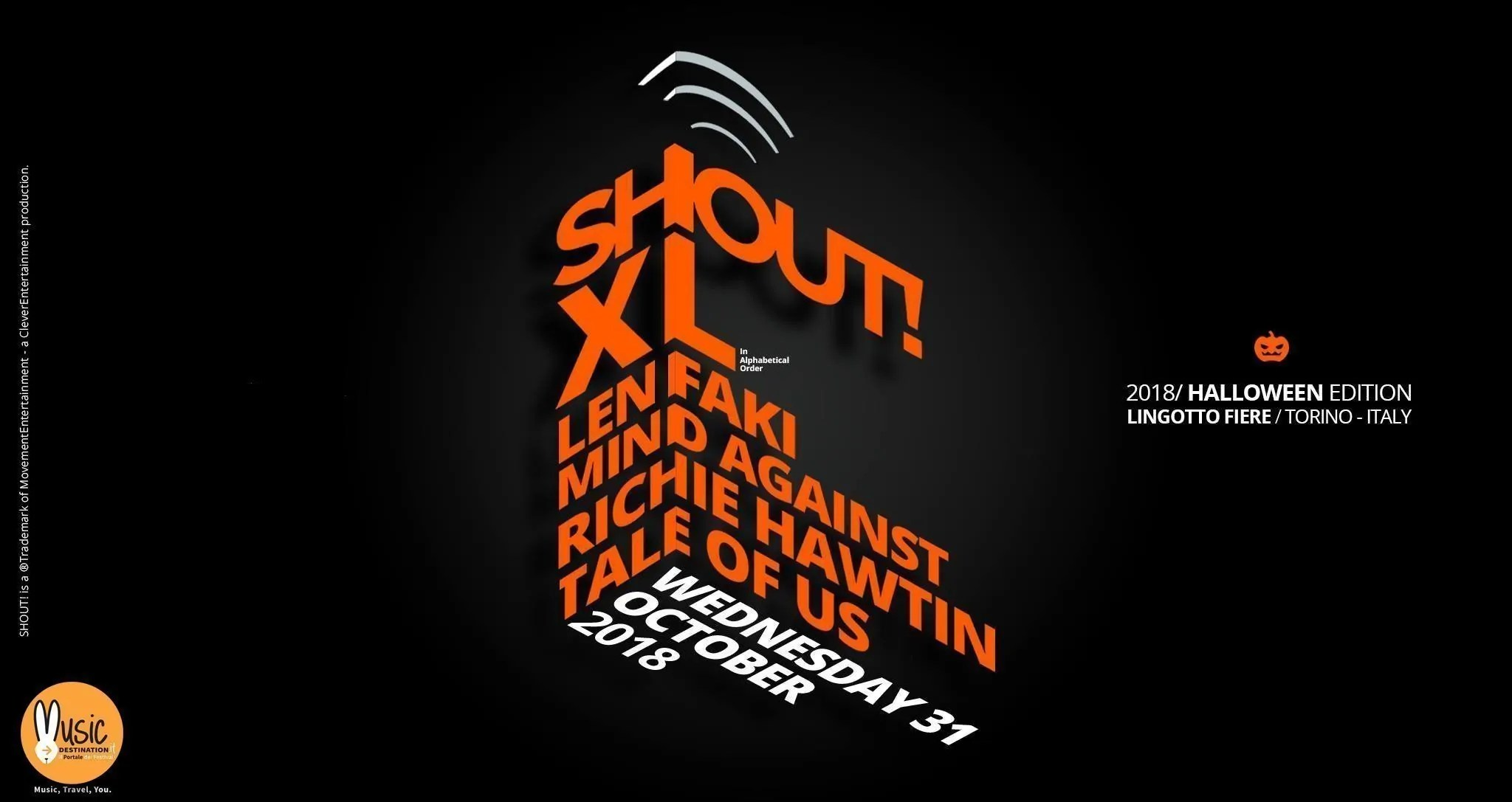 SHOUT XL Torino 31 Ottobre 2018 – Lingotto Fiere | Ticket Pacchetti Hotel