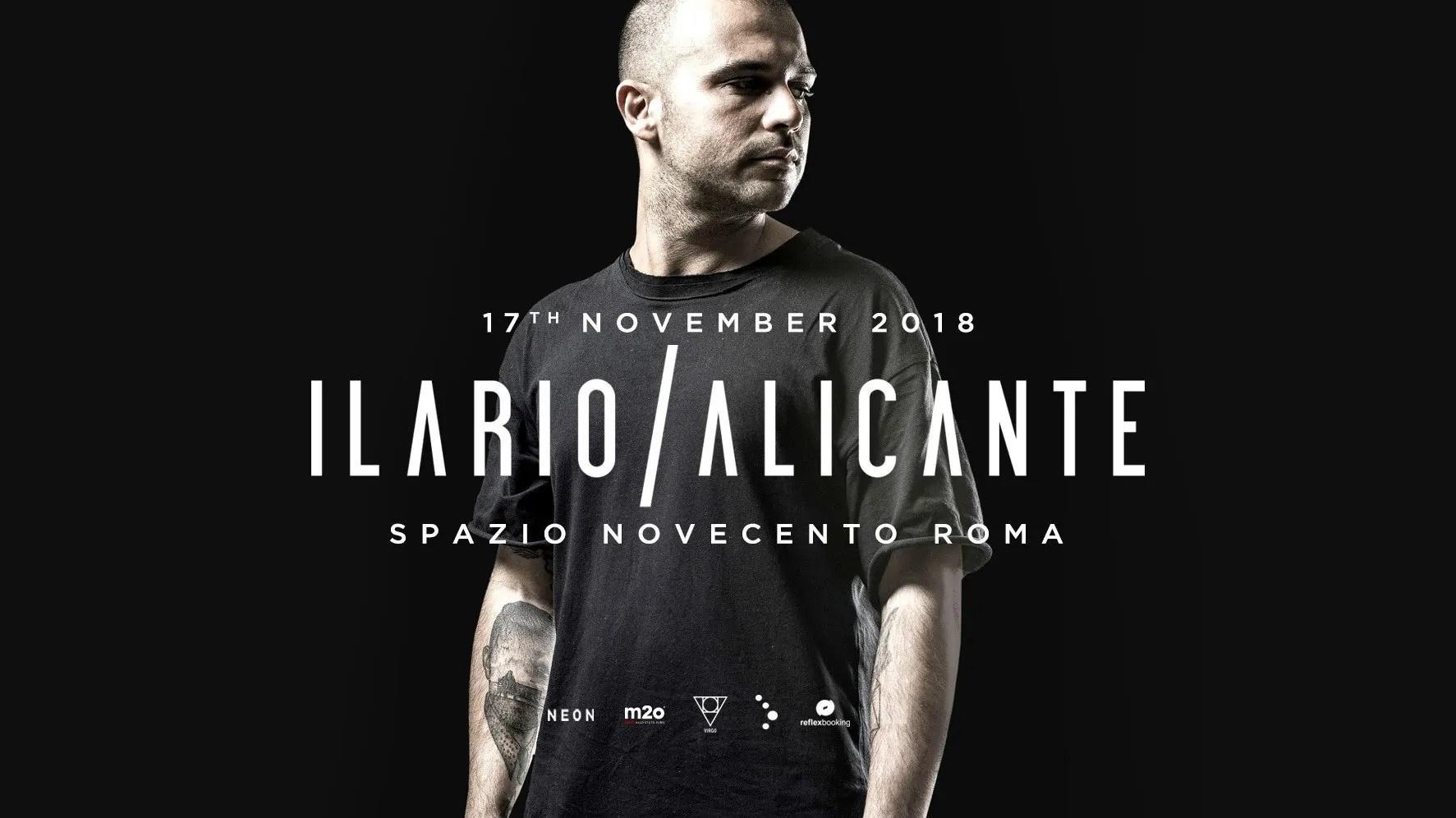 Ilario Alicante at Spazio Novecento Roma – 17 Novembre 2018 | Ticket Tavoli Pacchetti hotel Prevendite