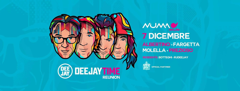 Numa Club Bologna Dj Time Reunion  – 07 Dicembre 2018 | Ticket Tavoli Pacchetti hotel Prevendite