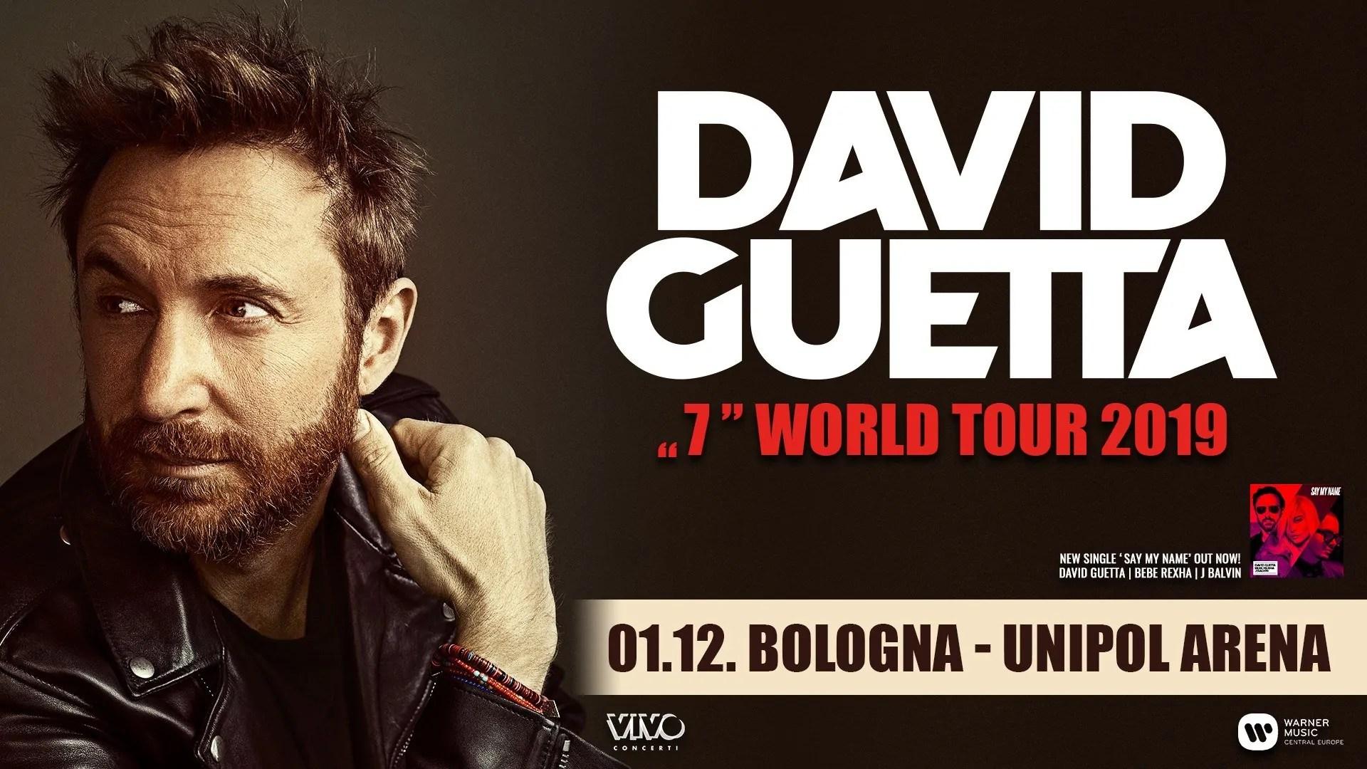 David Guetta Unipol Arena Bologna 01 Dicembre 2019