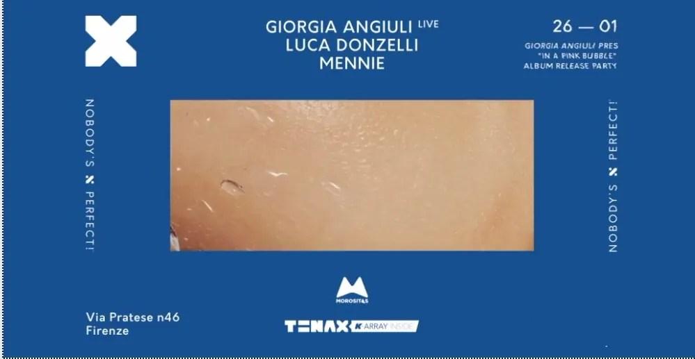 Tenax Firenze Giorgia Angiuli Sabato 26 Gennaio 2019 + Prezzi Ticket in Prevendita Biglietti Tavoli Liste Pacchetti Hotel