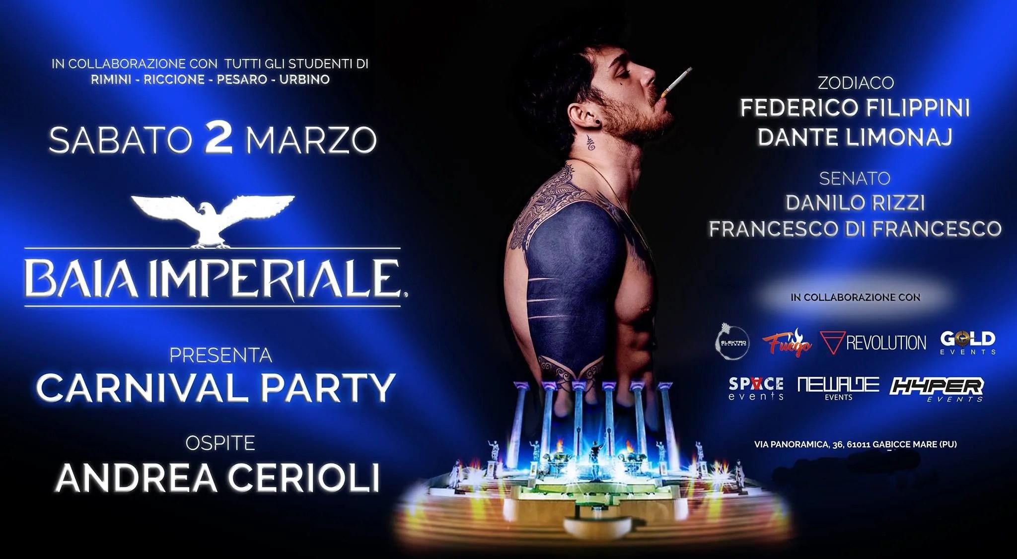 Baia Imperiale Sabato 02 Marzo 2019 Party di Carnevale