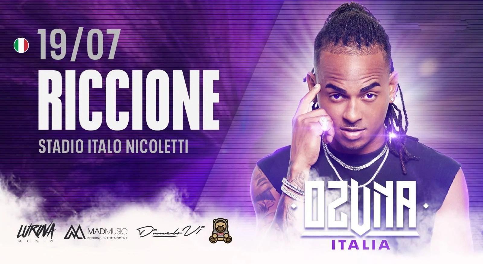 Ozuna in concerto a Riccione Stadio Comunale Venerdì 19 Luglio 2019 + Prezzi Ticket in Prevendita Biglietti Tavoli Liste Pacchetti Hotel