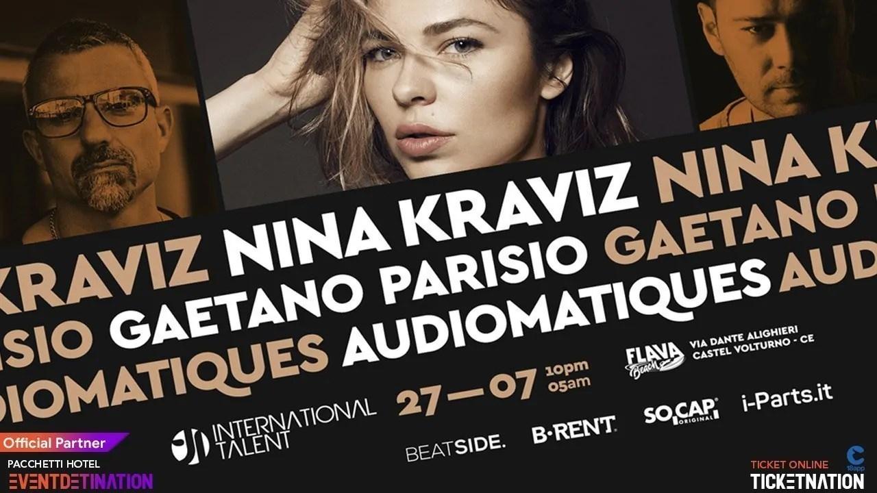Nina Kraviz Flava Beach Castel Volturno International Talent – Sabato 27 Luglio 2019 | Ticket/Biglietti/Prevendite 18APP Tavoli Pacchetti hotel Prevendite