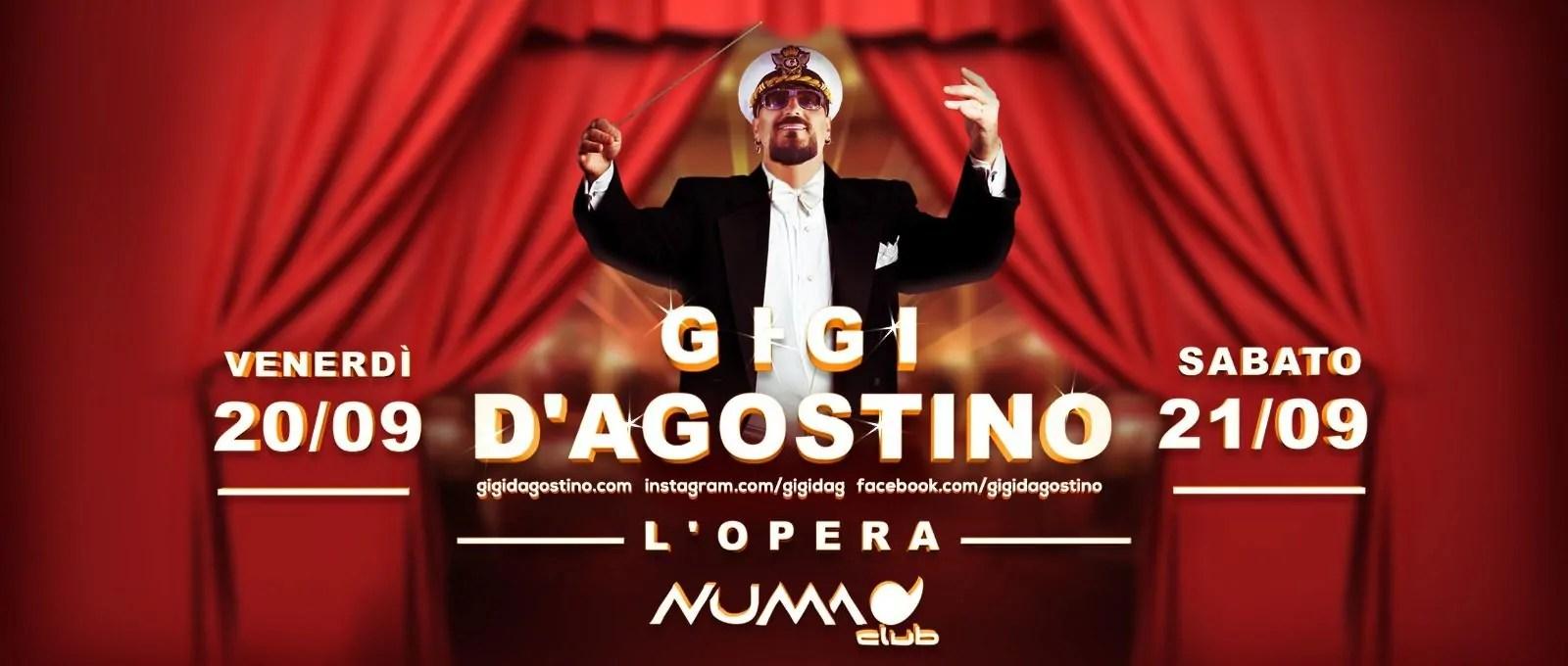 GIGI D'AGOSTINO NUMA CLUB BOLOGNA 20 21 SETTEMBRE 2019