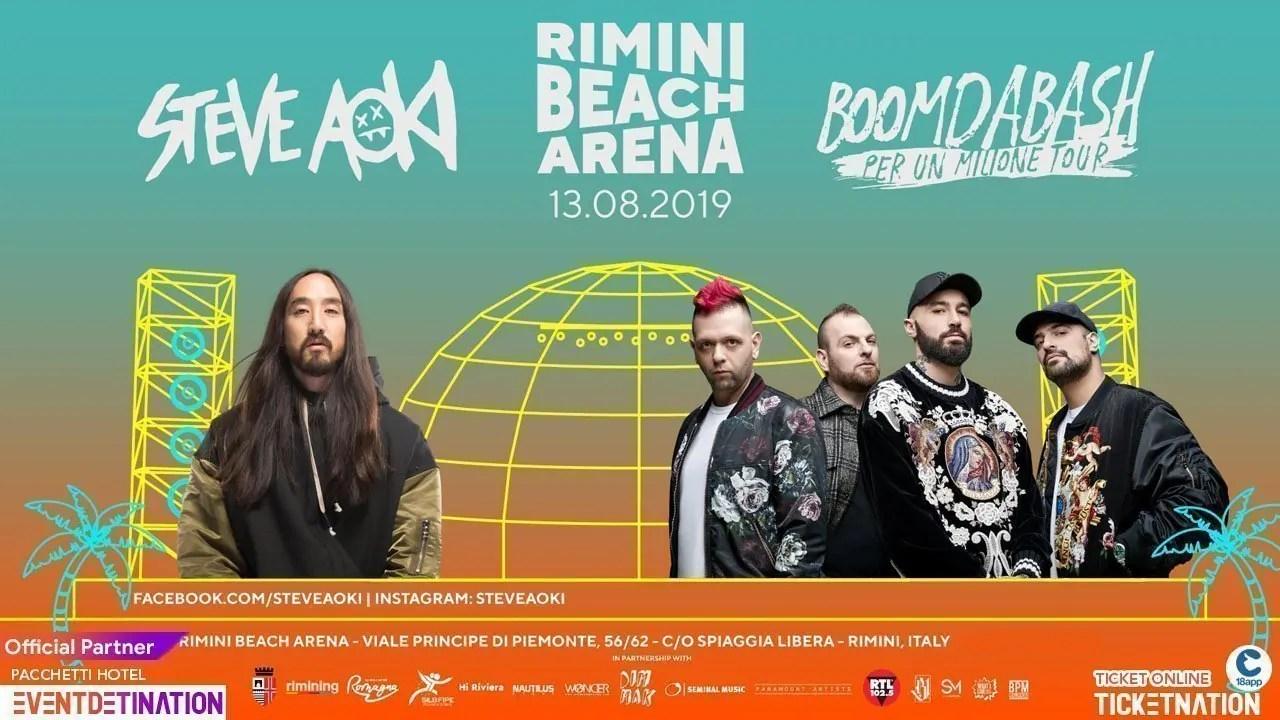 Steve Aoki + Boomdabash Rimini Beach Arena – Martedì 13 Agosto 2019 + Prezzi Ticket/Biglietti/Prevendite 18APP Tavoli Pacchetti hotel