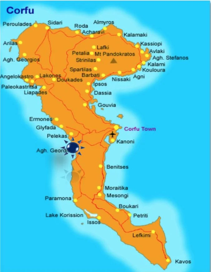 mappa corfu