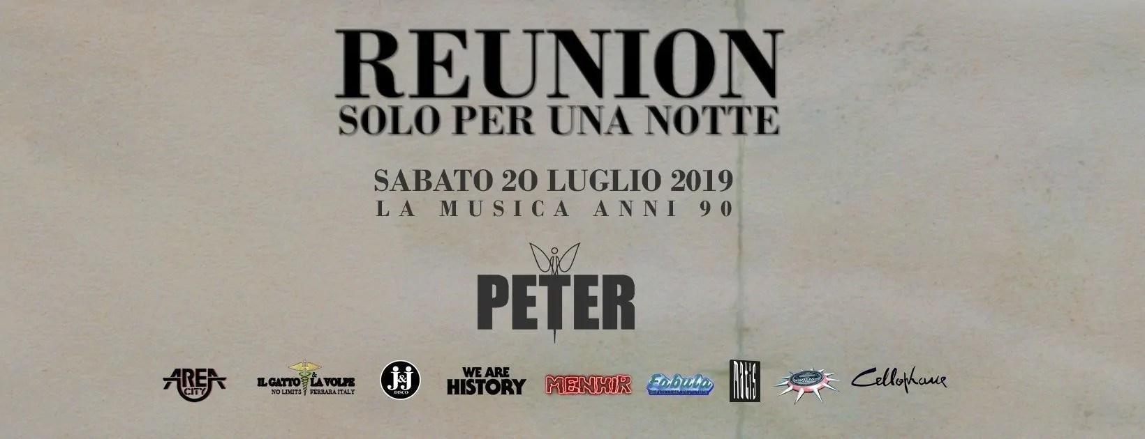 Reunion Peter Pan Riccione 20 Luglio 2019 + Prezzi Ticket in Prevendita Biglietti Tavoli Liste Pacchetti Hotel