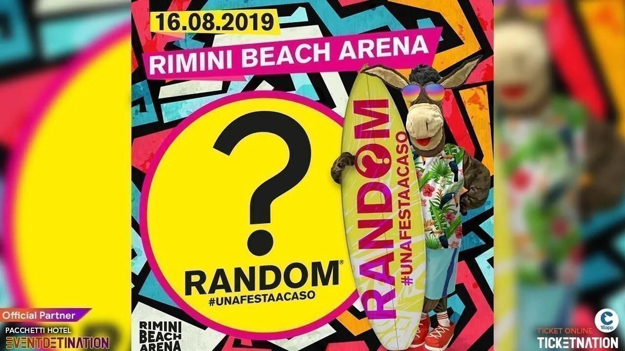 Random? Party + IZI in Concerto Rimini Beach Arena – Venerdì 16 Agosto 2019 + Prezzi Ticket/Biglietti/Prevendite 18APP Tavoli Pacchetti hotel