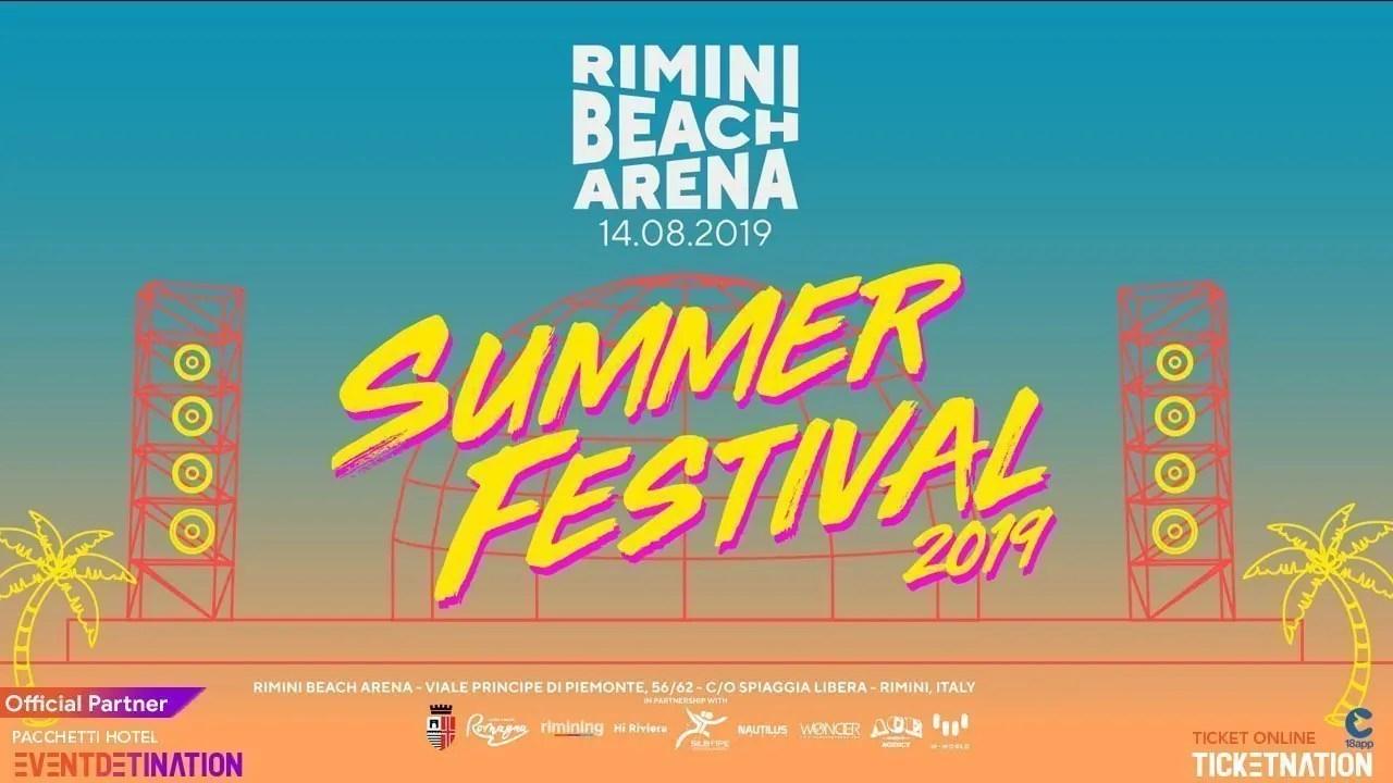 Rimini Beach Arena 14 Agosto 2019 Ticket E Pacchetti