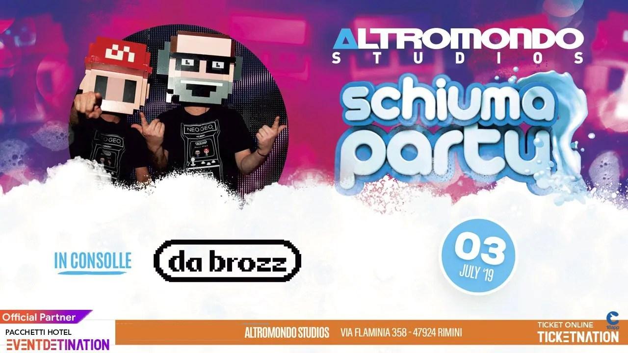 Schiuma Party Altromondo Studios Rimini Mercoledì 03 07 2019 + Prezzi Ticket/Biglietti/Prevendite 18APP Tavoli Pacchetti hotel