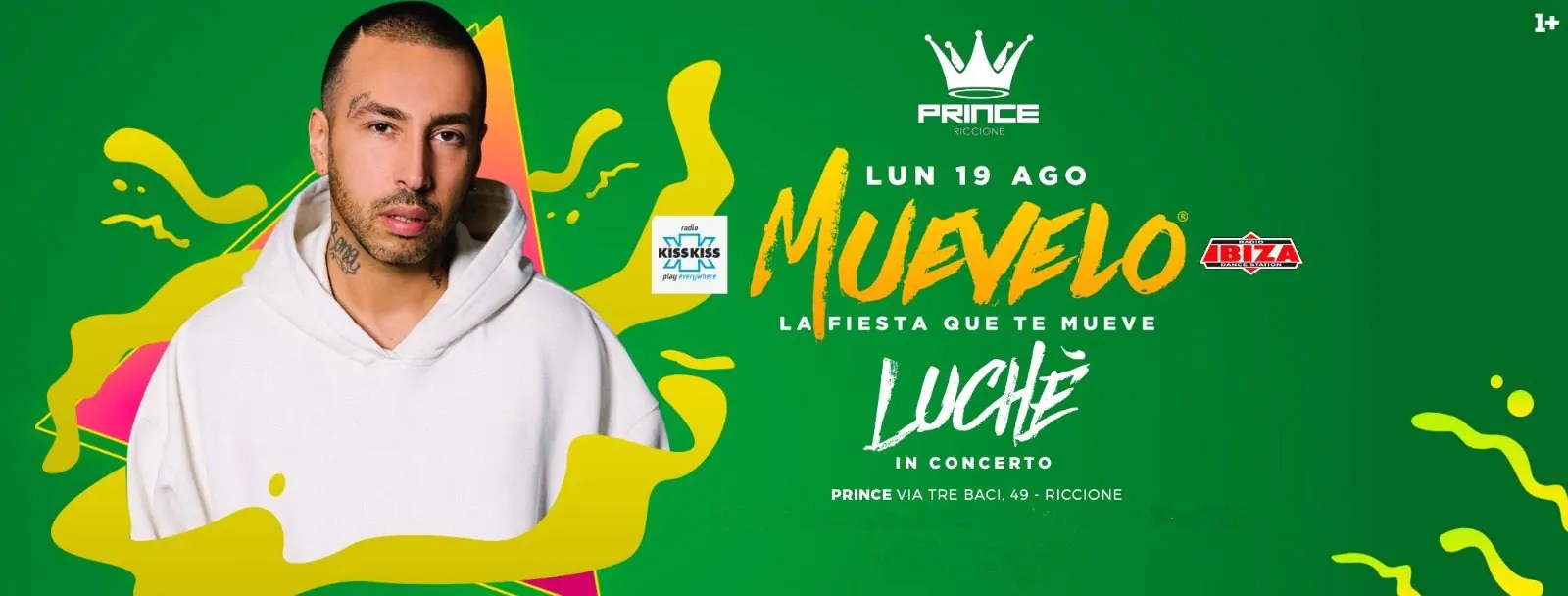 Luchè a Riccione in concerto al Prince Club Lunedì 19 08 2019