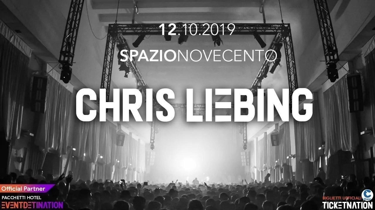 Chris Liebing at Spazio Novecento Roma – Sabato 12 10 2019