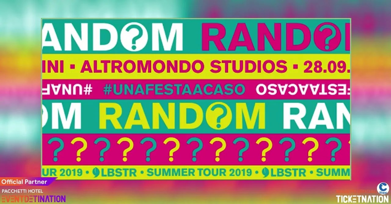 Random Rimini Altromondo Studios Sabato 28 09 2019