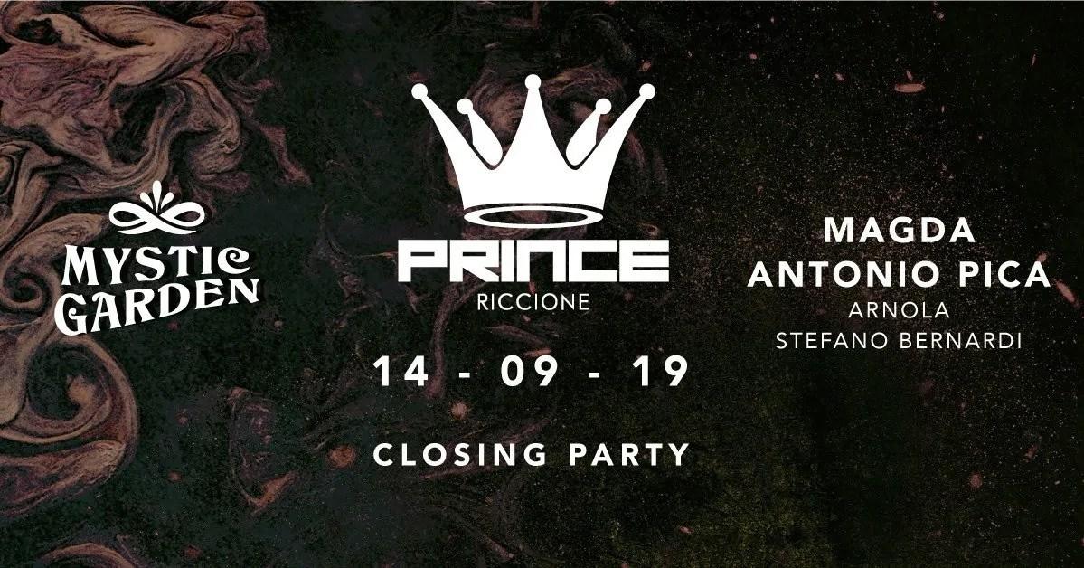 Closing Party Prince Club Riccione Sabato 14 Settembre 2019