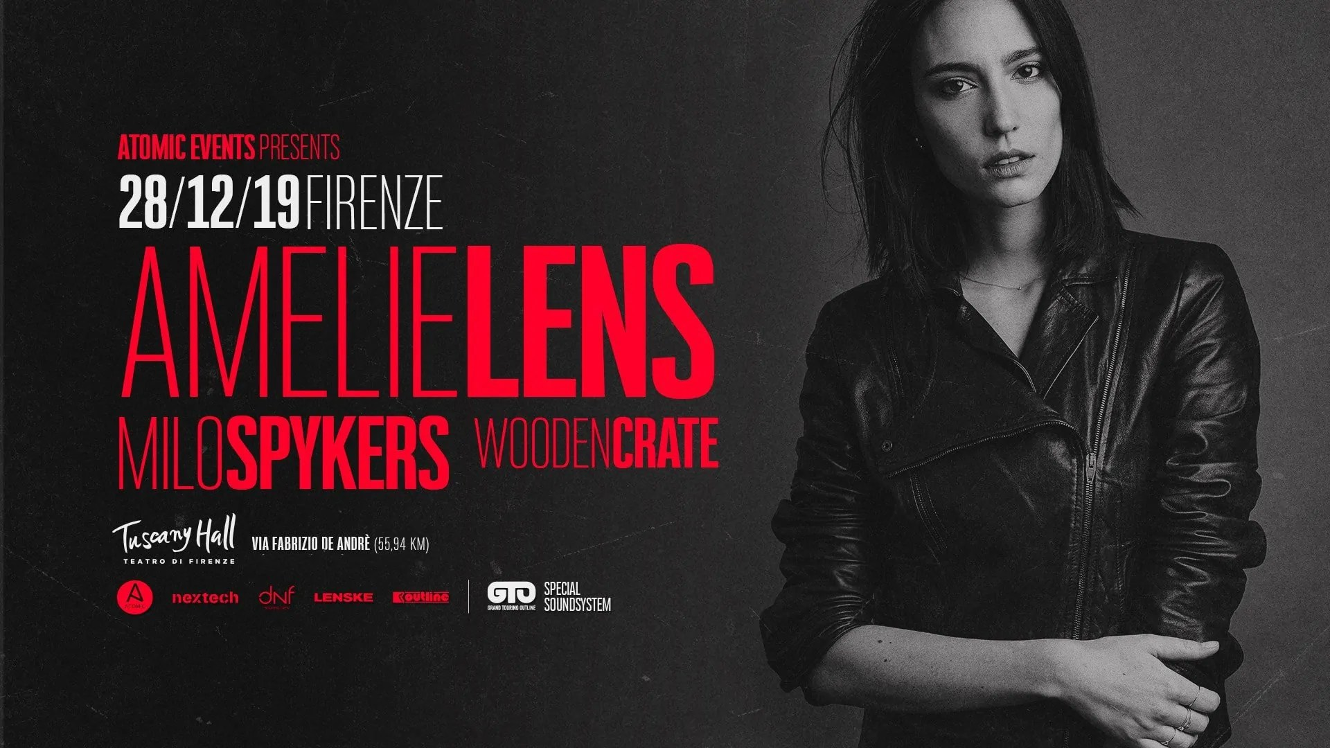 Amelie Lens Firenze Tuscany Hall 28 Dicembre 2019