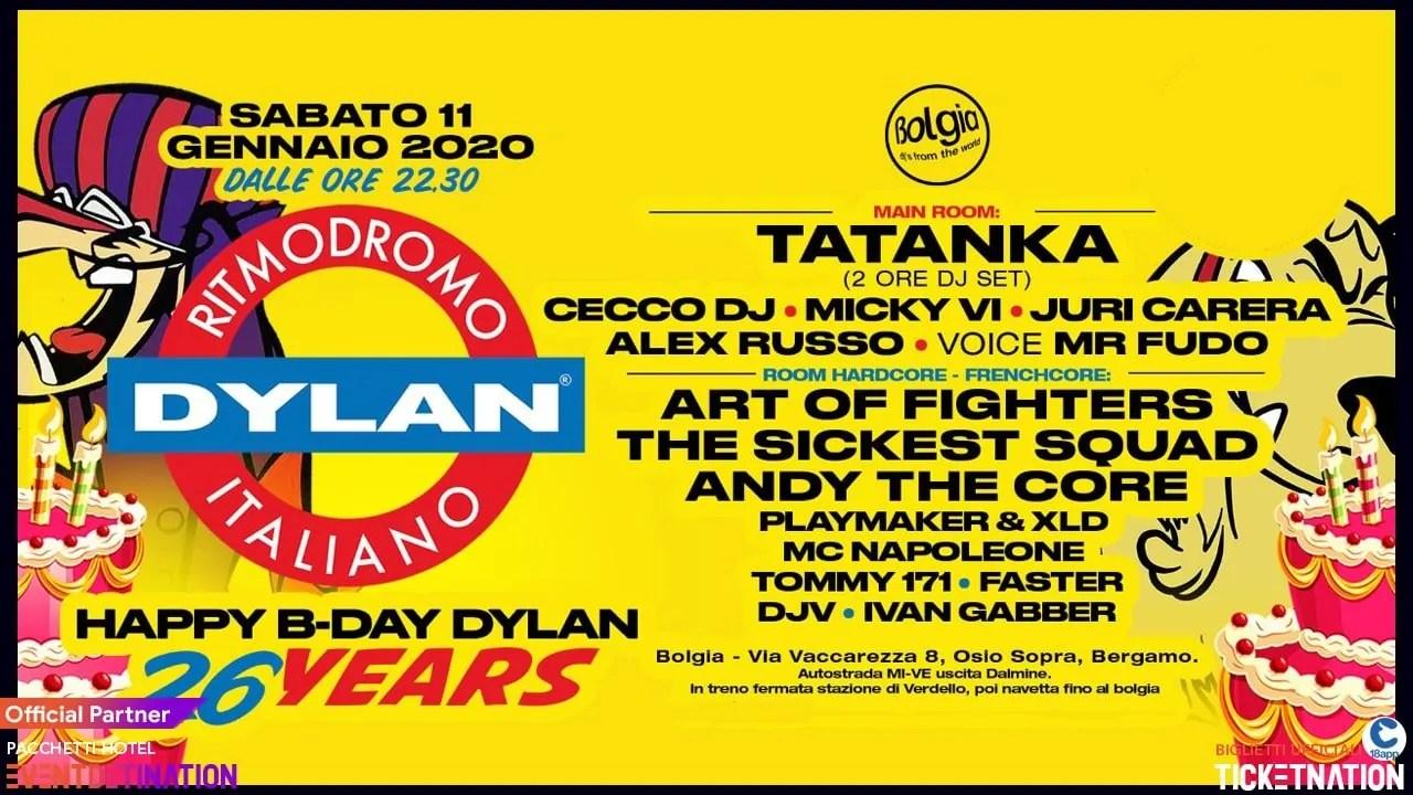 Tatanka At Bolgia Bergamo DYLAN Party 11 01 2020