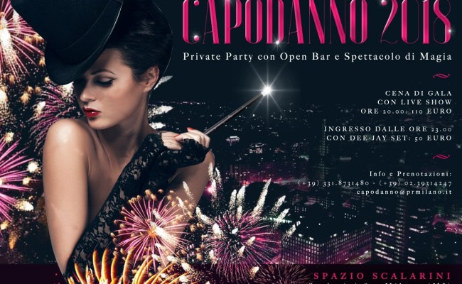CAPODANNO 2018 SPAZIO SCALARINI PRIVATE PARTY OPEN BAR