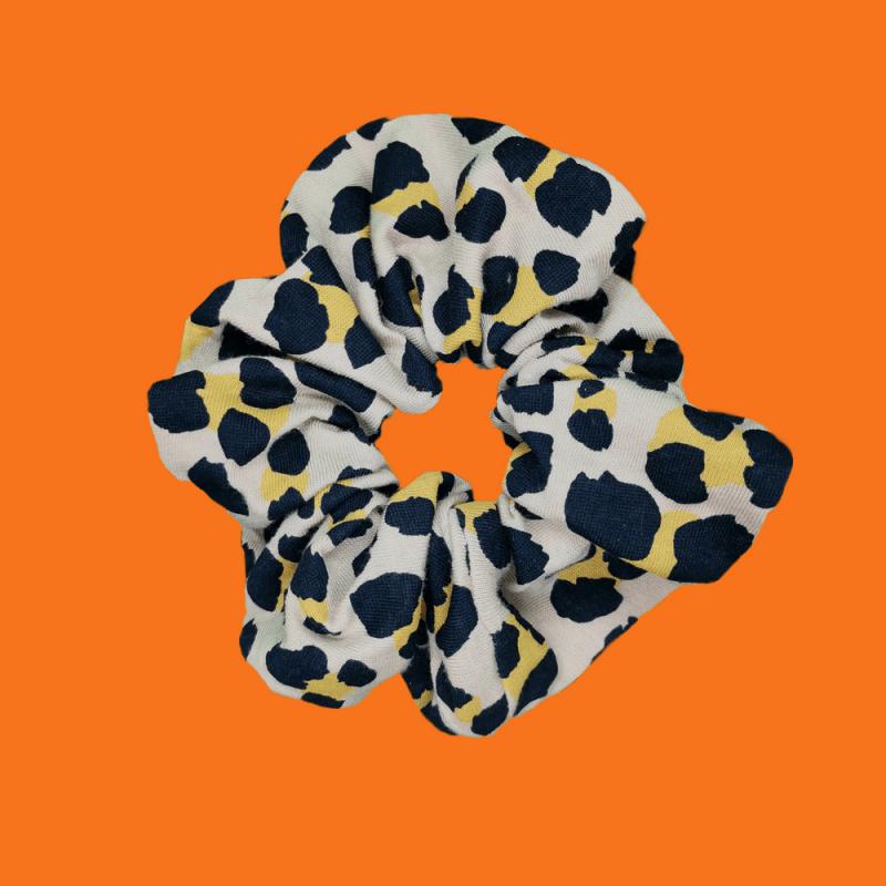 chouchou léopard surcyclage