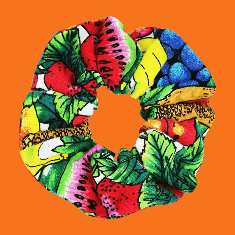 chouchou tissu fruits