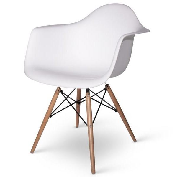 Lot De 6 Fauteuils Charles Eames DAW Blanc Discount Design