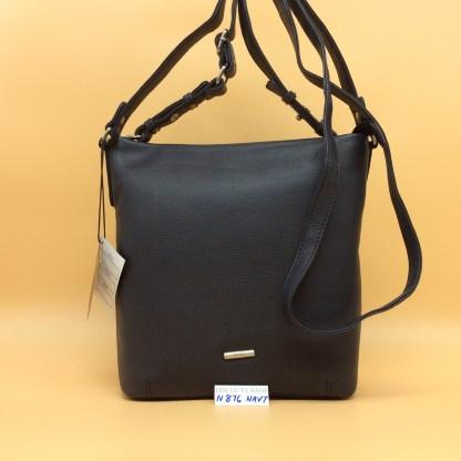 Nova Leather Bag. N876. Navy