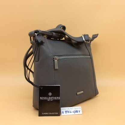 Nova Leather Bag. N882 Grey