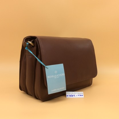 Nova Leather Bag. N768. Tan