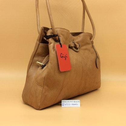Gigi Leather Bag - 4323G. Honey