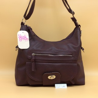 Nicole Fashion Bag. 2421. Wine