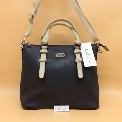 Lulu Fashion Bag. DK568. Black with beige trim