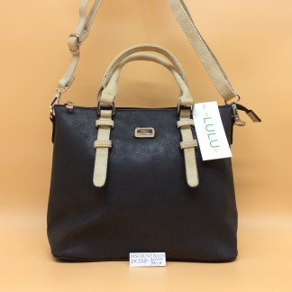 Lulu Fashion Bag. DK568. Black with beige trim